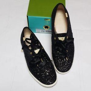 Kate Spade Black Glitter Women's Sneakers Size 9